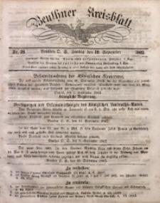 Beuthner Kreisblatt, 1862, Nr. 38
