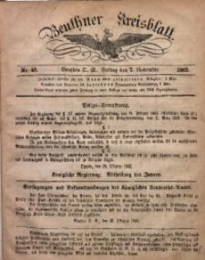 Beuthner Kreisblatt, 1862, Nr. 45
