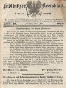 Lublinitzer Kreisblatt, 1852, Jg. 9, St. 18
