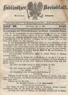 Lublinitzer Kreisblatt, 1852, Jg. 9, St. 20