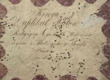 Księga urodzeń, małżeństw i zgonów Pilica 1830