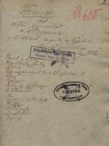 Papuga czyli Miłość synowska. Dramma w 3 aktach Augusta de Kozebue tłumaczył z niemieckiego Szczepan Nowikiewicz 1802
