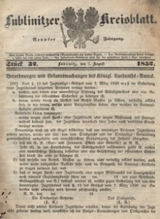 Lublinitzer Kreisblatt, 1852, Jg. 9, St. 32
