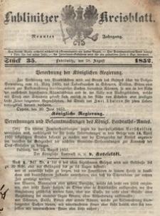 Lublinitzer Kreisblatt, 1852, Jg. 9, St. 35
