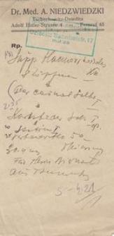 Recepta lekarska, czasy okupacji niemieckiej