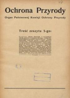 Ochrona Przyrody. Organ Państwowej Komisji Ochrony Przyrody, 1925, Zeszyt 5