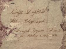 Księga urodzeń, małżeństw i zgonów Pilica 1832