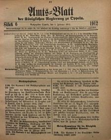 Amts-Blatt der Königlichen Regierung zu Oppeln, 1912, Bd. 97, St. 6