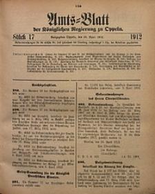 Amts-Blatt der Königlichen Regierung zu Oppeln, 1912, Bd. 97, St. 17