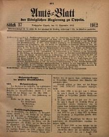 Amts-Blatt der Königlichen Regierung zu Oppeln, 1912, Bd. 97, St. 37