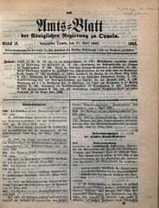 Amts-Blatt der Königlichen Regierung zu Oppeln, 1903, Bd. 88, St. 16