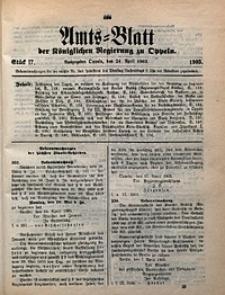 Amts-Blatt der Königlichen Regierung zu Oppeln, 1903, Bd. 88, St. 17