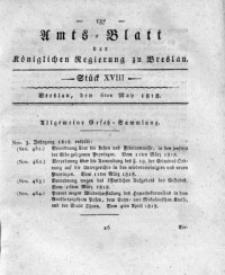 Amts-Blatt der Königlichen Regierung zu Breslau, 1818, Bd. 9, St. 18