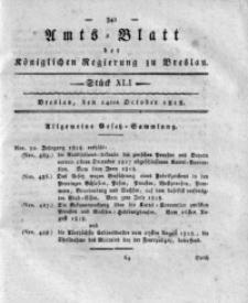 Amts-Blatt der Königlichen Regierung zu Breslau, 1818, Bd. 9, St. 41