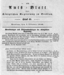 Amts-Blatt der Königlichen Regierung zu Breslau, 1840, Bd. 31, St. 41