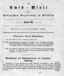 Amts-Blatt der Königlichen Regierung zu Breslau, 1840, Bd. 31, St. 50