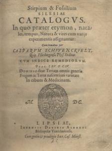 Stirpium et fossilium Silesiae catalogus [...]