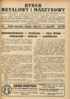 Rynek Metalowy i Maszynowy, 1938, R.18, nr 6