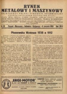 Rynek Metalowy i Maszynowy, 1938, R.18, nr 32
