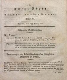 Amts-Blatt der Königlichen Oppelnschen Regierung, 1830, Bd. 15, St. 11