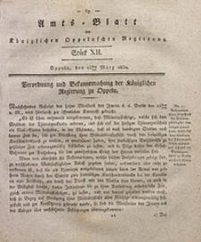 Amts-Blatt der Königlichen Oppelnschen Regierung, 1830, Bd. 15, St. 12