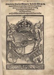 Tractatus preclarissimus in judiciis astro[rum] de mutatio[n]ibus aeeris [...]