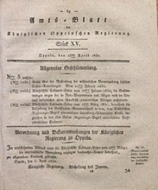 Amts-Blatt der Königlichen Oppelnschen Regierung, 1830, Bd. 15, St. 15