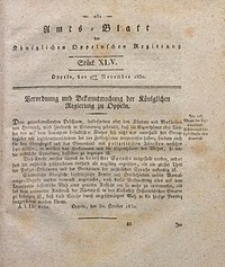 Amts-Blatt der Königlichen Oppelnschen Regierung, 1830, Bd. 15, St. 45