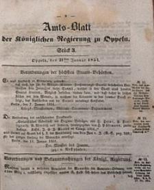 Amts-Blatt der Königlichen Regierung zu Oppeln, 1851, Bd. 36, St. 3
