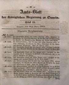 Amts-Blatt der Königlichen Regierung zu Oppeln, 1851, Bd. 36, St. 11