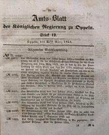 Amts-Blatt der Königlichen Regierung zu Oppeln, 1851, Bd. 36, St. 12