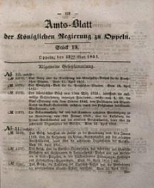 Amts-Blatt der Königlichen Regierung zu Oppeln, 1851, Bd. 36, St. 19