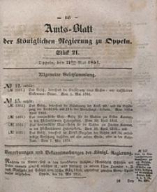 Amts-Blatt der Königlichen Regierung zu Oppeln, 1851, Bd. 36, St. 21
