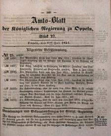 Amts-Blatt der Königlichen Regierung zu Oppeln, 1851, Bd. 36, St. 27