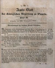 Amts-Blatt der Königlichen Regierung zu Oppeln, 1851, Bd. 36, St. 39