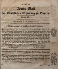 Amts-Blatt der Königlichen Regierung zu Oppeln, 1851, Bd. 36, St. 49