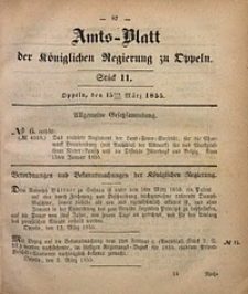 Amts-Blatt der Königlichen Regierung zu Oppeln, 1855, Bd. 40, St. 11