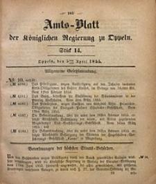 Amts-Blatt der Königlichen Regierung zu Oppeln, 1855, Bd. 40, St. 14