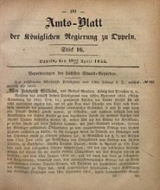 Amts-Blatt der Königlichen Regierung zu Oppeln, 1855, Bd. 40, St. 16