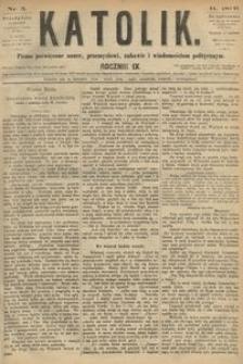 Katolik, 1876, R. 9, nr 5