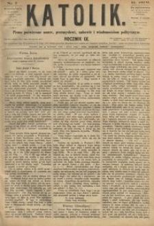 Katolik, 1876, R. 9, nr 7