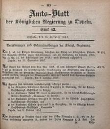 Amts-Blatt der Königlichen Regierung zu Oppeln, 1857, Bd. 42, St. 42