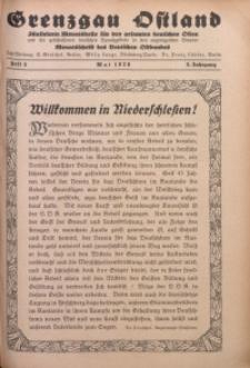Grenzgau Ostland, 1926, Jg. 3, Heft 5