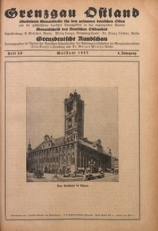 Grenzgau Ostland, 1927, Jg. 4, Heft 5/6