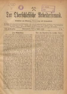 Der Oberschlesische Arbeiterfreund, 1911/1912, Jg. 12, No 1