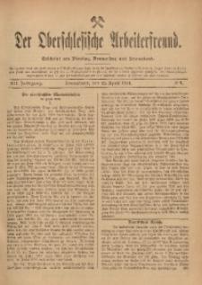 Der Oberschlesische Arbeiterfreund, 1911/1912, Jg. 12, No 9