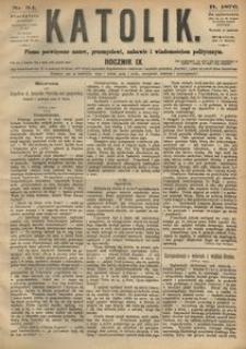 Katolik, 1876, R. 9, nr 34