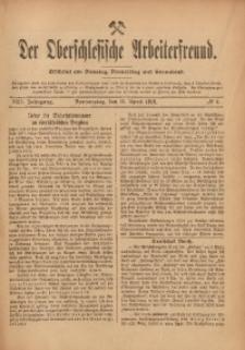 Der Oberschlesische Arbeiterfreund, 1912/1913, Jg. 13, No 4