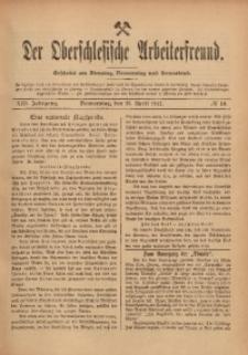 Der Oberschlesische Arbeiterfreund, 1912/1913, Jg. 13, No 10
