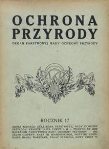 Ochrona Przyrody. Organ Państwowej Rady Ochrony Przyrody, R. 17 (1937)